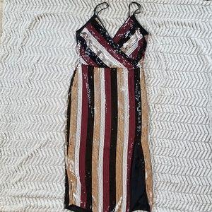 AQUA exclusive sequence dress